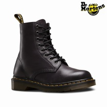 Dr Martens 1460 Pascal Antique Temperley - Women's Dark Grey 8 Eye Boots (XEMJNP23)