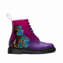 Dr Martens 1460 Technique - Men's Purple Pink 8 Eye Boots (SXTLRP19)