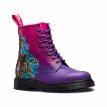 Dr Martens 1460 Technique - Women's Purple Pink 8 Eye Boots (ZCRBTK54)