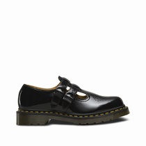 Dr Martens 8065 Patent - Women's Black Mary Janes Shoes (TJIUPM68)