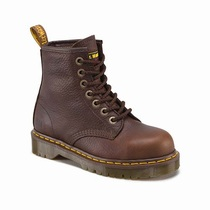 Dr Martens Icon 7b10 Steel Toe - Men's Dark Brown Work Boots (THAOZU88)